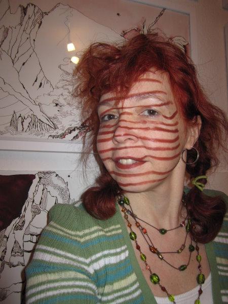 Ich als Streifenhörnchen -Foto - Selbstportrait von Susanne Haun (C) VG Bild Kunst, 2018.