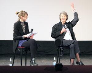 Anne Lakeberg im Gespräch mit Schauspielerin Charlotte Rampling. Foto: Hensel