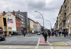 Radfahren auf der Müllerstraße