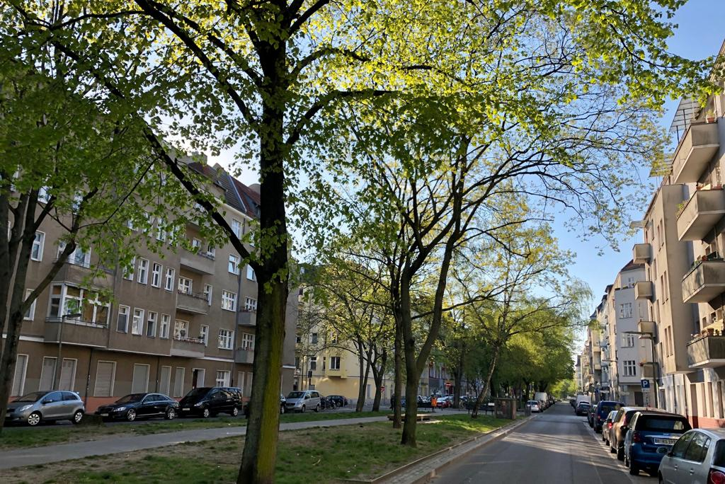 Togostraße mit Mittelstreifen
