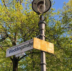 Weddingstraße Schild: Wie alt ist der Wedding?