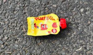 Quetschi-Müll auf der Straße im Wedding