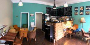 Inneneinrichtung eines Cafés