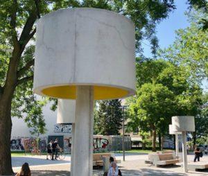Eine Lampe aus Beton