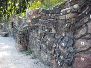 geologische Wand im botanischen Volkspark Pankow