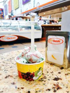 Eis beim Eiscafé Gelati