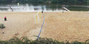 Ein Beachsoccerfeld am Plötzensee