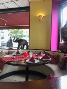 Sitzecke in einem Restaurant