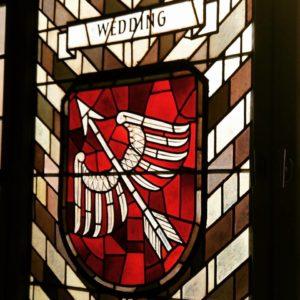 Fenstermosaik mit Weddinger Wappen