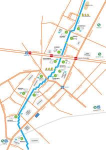 Das Plan für den Panke Parcours 2019. Foto: georg+georg