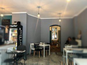 Innenraum eines Cafés