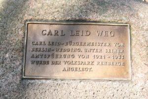 Erinnerungstafel Carl Leid