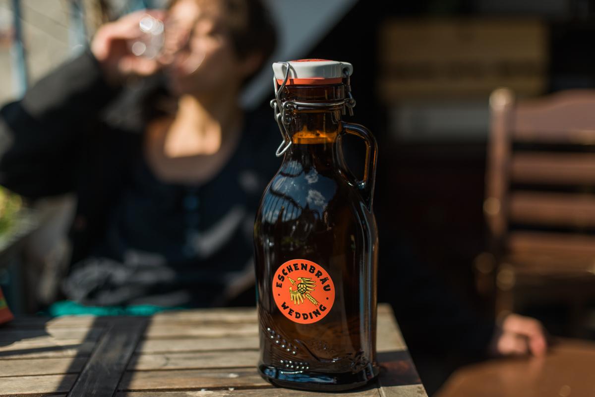 Bierflasche Eschenbräu Takeaway
