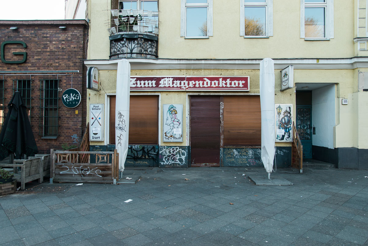 Kneipe Magendoktor ist geschlossen während Corona in Berlin Wedding