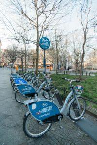 Nextbike Station am Nettelbeckplatz in Berlin Wedding