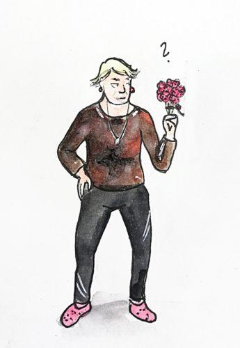 Der Beginn einer Liebesgeschichte: Blumen?