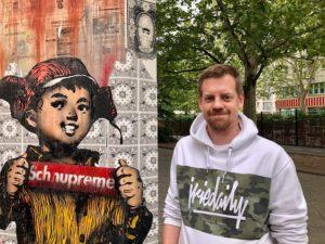 Mirage-Betonsäule und Betreiber Jochen Küpper