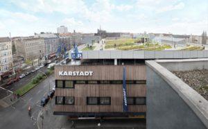 Eine Farm auf dem Dach von Karstadt
