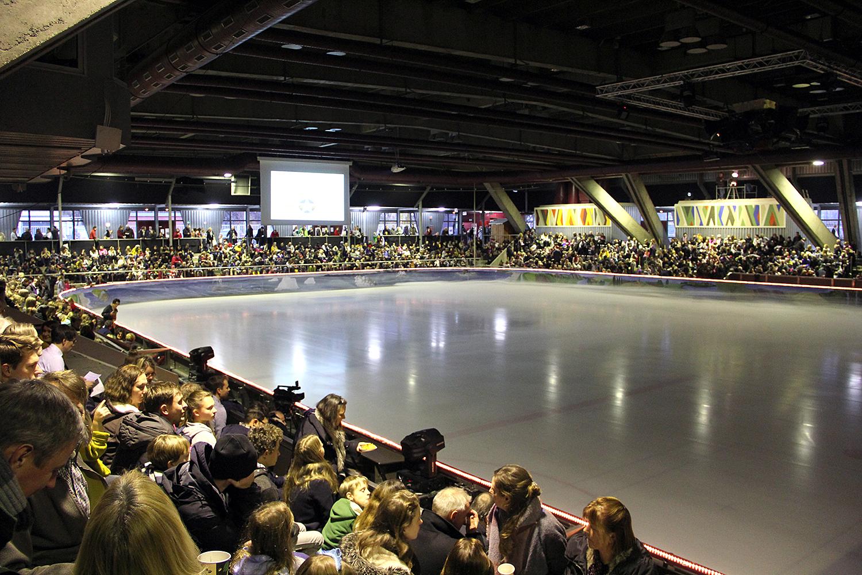 In der Eishalle - bei der Eisrevue im Dezember 2019. Foto: Hensel