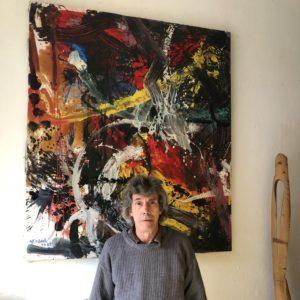 Der Künstler im Atelier in der Bellermannstraße