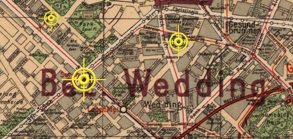 Historische Karte Berlin (Silva 1925), Ausschnitt Berlin-Wedding