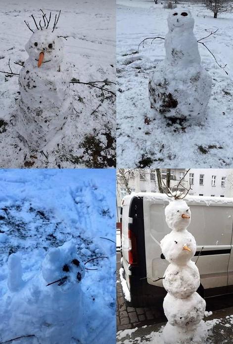 Schnee und Schneefiguren