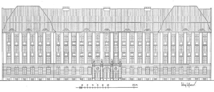 Fassade der Schule in der Ofener Straße, Arch. & Stadtbaurat Ludwig Hoffmann