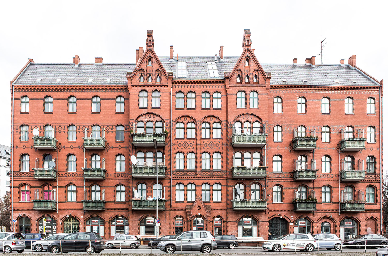 Hier wohnte Familie Mehler 1914-1939, Fassade Badstraße 40/41