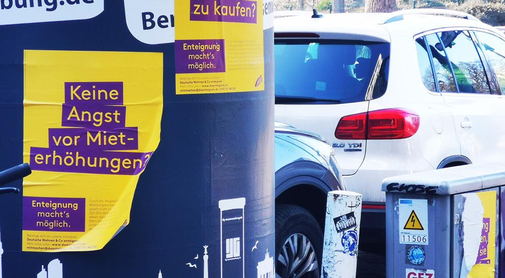 Plakat der Kampagne Deutsche Wohnen & Co Enteignen