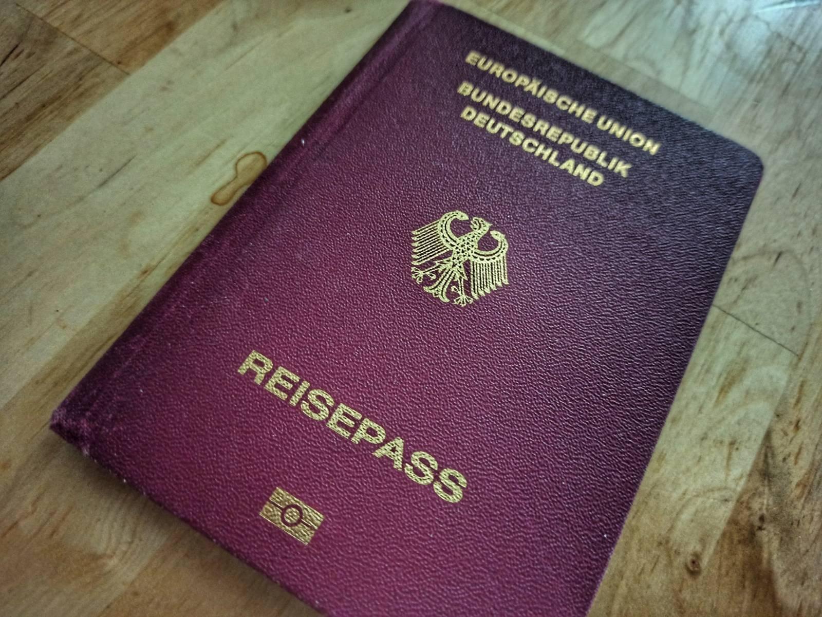 Reisepass aus Europa