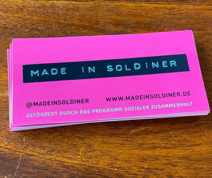 Aufkleber des Projekts Made in Soldiner