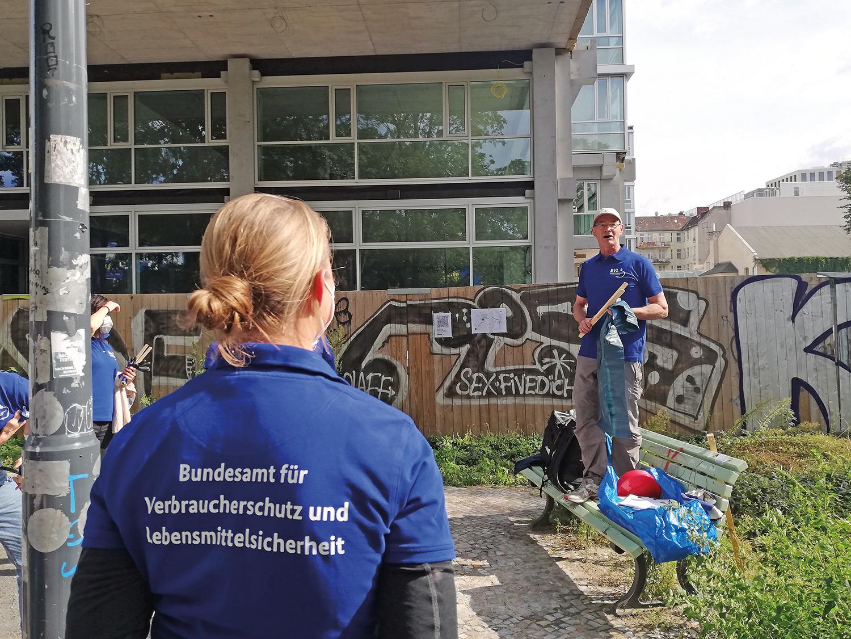 Aufrräumaktion der BVL in der Gerichtstraße