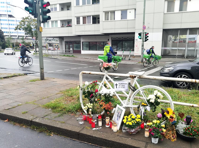 Geisterrad in der Reinickendorfer Straße